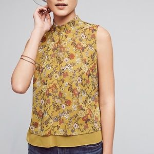 Anthropologie Harlyn Wylder Floral Swing Tank